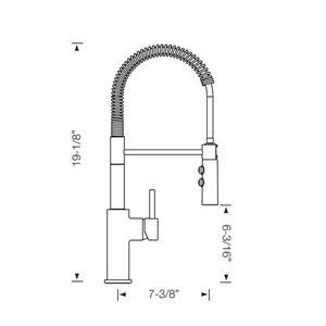 Blanco Catris Semi-Pro Kitchen Faucet, Stainless Steel