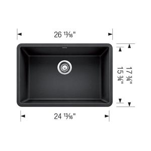 Blanco Precis Single Undermount Sink - Truffle