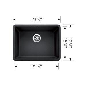 Blanco Precis Single Kitchen Sink - Metallic Gray - 24-in