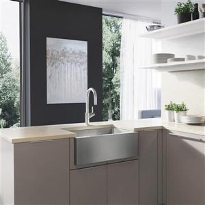 Blanco Quatrus Medium Farmhouse Sink - Chrome