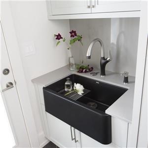 Blanco Ikon Farmhouse Kitchen Sink - 30-in - Black