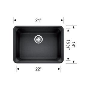 Blanco Vision Undermount Kitchen Sink - Off-White - 24-in