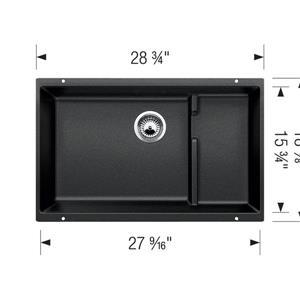 Blanco Precis Cascade Undermount Kitchen Sink - Off-White - 28.75-in