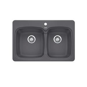 Blanco Vienna Drop-In Kitchen Sink, Cinder