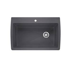 Blanco Diamond Drop-In Sink, Cinder