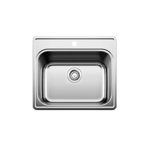 Blanco Essential Drop-In Laundry Sink - Chrome - 25-in