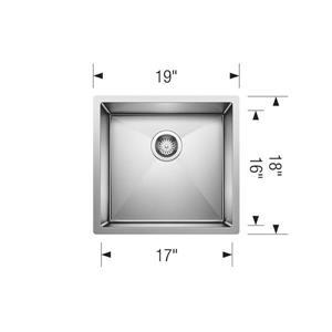 Blanco Radius Single Bowl Sink, Chrome