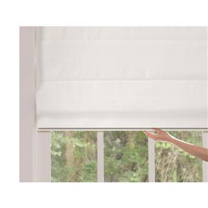 "allen + roth Blackout Roman Shade - 32"" X 72"" - Snow"