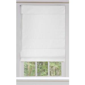 "allen + roth Blackout Roman Shade - 29"" X 72"" - Snow"