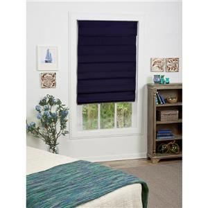 "allen + roth Blackout Roman Shade - 50"" X 72"" - Midnight Blue"