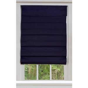 "allen + roth Blackout Roman Shade - 53"" X 72"" - Midnight Blue"