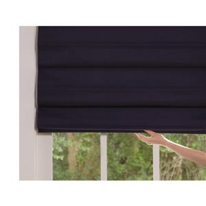 "allen + roth Blackout Roman Shade - 23"" X 72"" - Midnight Blue"