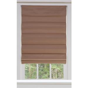 "allen + roth Blackout Roman Shade - 45"" X 72"" - Desert Tan"