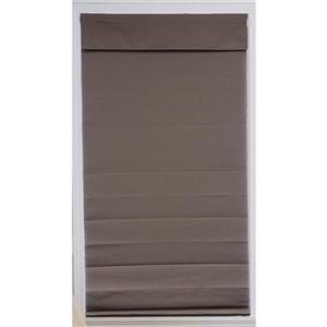 "allen + roth Blackout Roman Shade - 57"" X 72"" - Steel Grey"