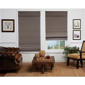 "allen + roth Blackout Roman Shade - 33"" X 72"" - Steel Grey"