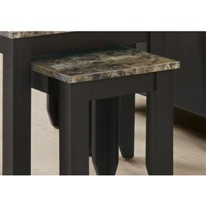 Monarch Accent Tables - 11.5-in - Composite - Cappuccino - 3 pcs