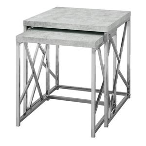 Monarch Accent Tables - 19.75-in - Composite - Gray - 2 pcs