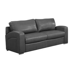 Monarch Love Seat - 66-in x 36-in - Bonded Leather - Gray