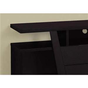Monarch TV Stand - 60-in x 23.75-in - Composite - Cappuccino