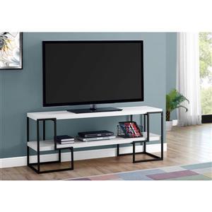Monarch TV Stand - 60-in - Composite - White