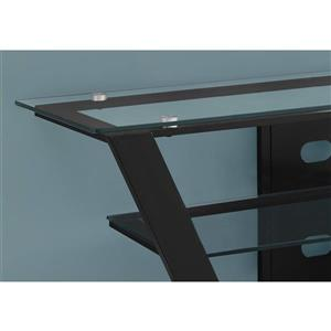Monarch TV Stand - 48-in x 20.5-in - Metal - Black