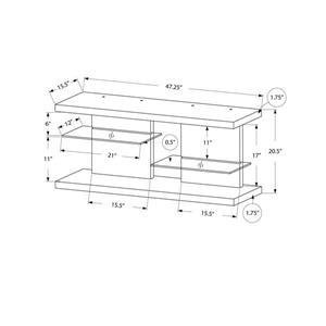 Monarch TV Stand - 47.25-in x 20.5-in - Composite - Cappuccino