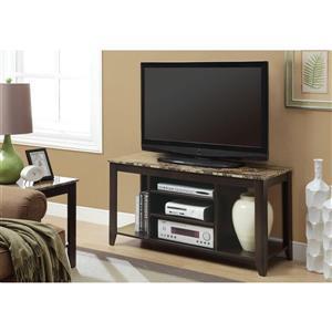Monarch TV Stand - 47.75-in x 24-in - Composite - Cappuccino