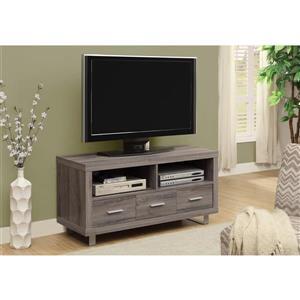 Monarch TV Stand - 47.25-in - Composite - Dark Taupe