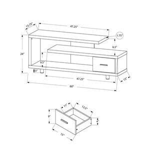 Monarch TV Stand - 60-in x 24-in - Cappuccino
