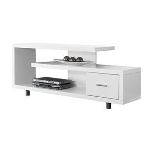 Monarch TV Stand - 60-in x 24-in - Composite - White
