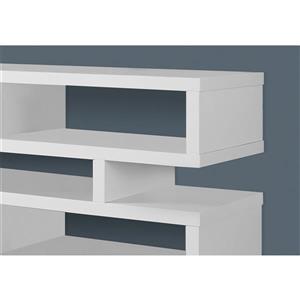 Monarch TV Stand - 47.25-in x 23.75-in - Composite - White