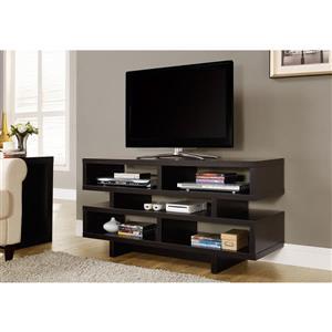 Monarch TV Stand - 47.25-in x 23.75-in - Composite - Cappuccino