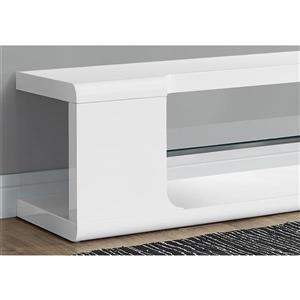 Monarch TV Stand - 59-in x 15.75-in - Composite - White