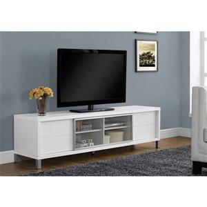 Monarch TV Stand - 71-in x 19.75-in - Composite - White