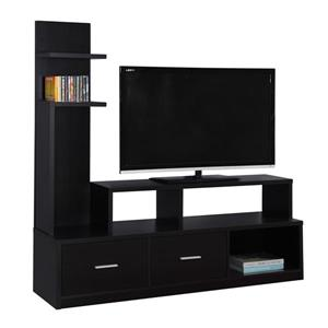 60-in TV Stand with Display Tower