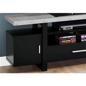 Monarch TV Stand - 60-in x 22-in - Composite - Black