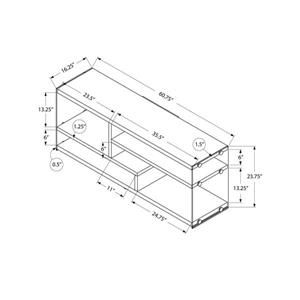 Monarch TV Stand - 60.75-in x 23.75-in - Composite - White