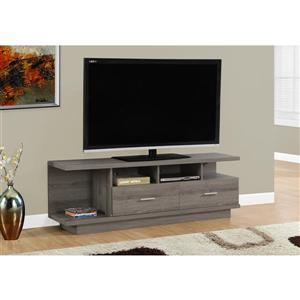 Monarch TV Stand - 60-in x 19.75-in - Composite - Dark Taupe
