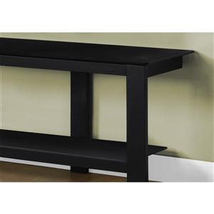 Monarch TV Stand - 60-in x 20-in - Metal - Black