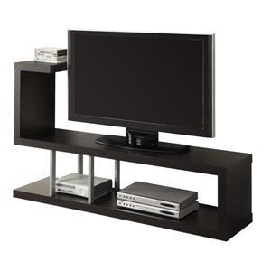 Monarch TV Stand - 60-in x 35.25-in - Composite - Cappuccino