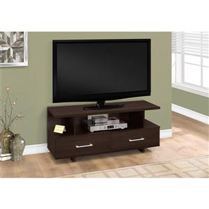 Monarch TV Stand - 47.75-in x 20-in - Composite - Cappuccino
