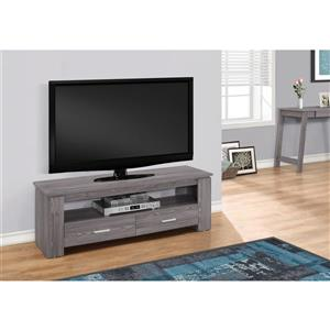 Monarch TV Stand - 47.25-in x 16.25-in - Composite - Gray