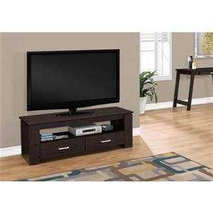 Monarch TV Stand - 47.25-in x 16.25-in - Composite - Cappuccino