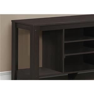 Monarch TV Stand - 47.75-in x 24.25-in - Composite - Cappuccino