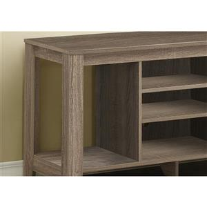 Monarch TV Stand - 47.75-in x 24.25-in - Composite - Taupe