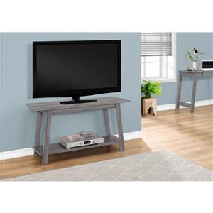 Monarch TV Stand - 42-in x 22.5-in - Composite - Gray