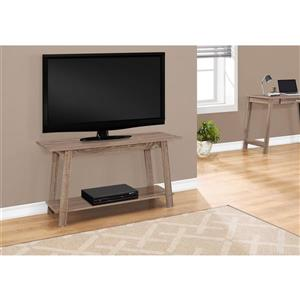 Monarch TV Stand - 42-in x 22.5-in - Composite - Dark Taupe
