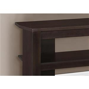 Monarch TV Stand - 42-in x 19.75-in - Composite - Cappuccino