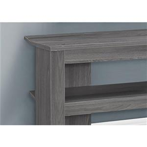 Monarch TV Stand - 42-in x 19.75-in - Composite - Gray