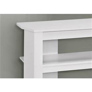 Monarch TV Stand - 42-in x 19.75-in - Composite - White